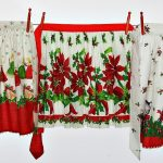 Christmas apron clothesline