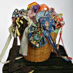 Clothesbasket of aprons