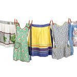 Clothesline of aprons